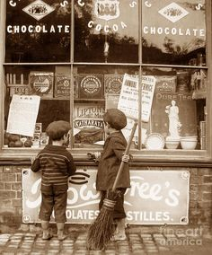 Victorian Childhood The Sweetshop England Photograph by The Keasbury-Gordon Photograph Archive