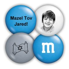 Personalized bar mitzvah candy