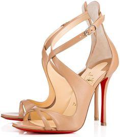 Christian Louboutin \u0027Malefissima\u0027 Crisscross 100mm Red Sole Sandals