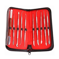 10 Pcs/Set Dental Spatula Plaster Knife Waxing Carving Lab Tools Dental Supplies  #Affiliate