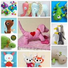 30 PATRONES SENCILLOS DE ANIMALITOS DE TELA Diy Clutch, Fabric Toys, Homemade Toys, Baby Room Decor, Stuffed Toys Patterns, Diy Toys, Baby Patterns, Softies, Baby Dolls