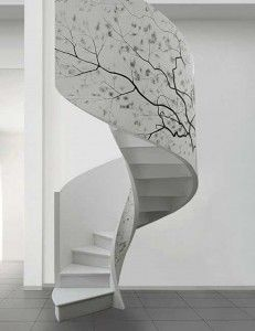 Check Out 10 Cool Spiral Staircase Designs. Any spiral staircase is a very practical solution to connect several floors in your home. Modern Staircase, Staircase Design, Spiral Staircases, Staircase Ideas, Stair Design, Concrete Staircase, White Staircase, Decorating Staircase, Staircase Walls