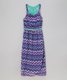 3e9dd846db This Purple Chevron Belted Dress - Girls by Zunie  amp  Pinky is perfect!