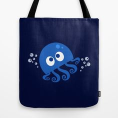 Bubbly Octopus Tote Bag