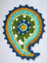 Crocheted paisley