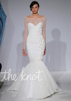 Check out this #weddingdress: 1234 by Mark Zunino for Kleinfeld via iPhone #TheKnotLB from #TheKnot