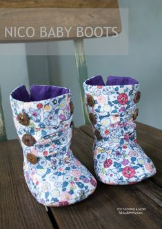 Nico Baby Boots PDF Pattern