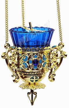 Byzantine Greek Orthodox Tabletop Vigil Lamp, Kandili, Brass Lampada, available on eBay ...