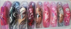CND Shellac Nail art Designs made by Janneke Brouwer in 2011