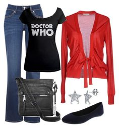 """Red Doctor Who"" by dancingwdaleks on Polyvore featuring Levi's, Etro, Rosetti and BERRICLE"