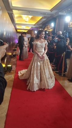 Former PBB All In housemate Maris Racal #StarMagicBall2015 #9thstarmagicball