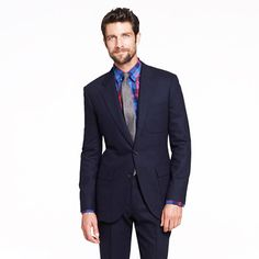 Ludlow Fielding three-button suit jacket in English wool