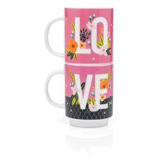 Canecas Empilhaveis Pink Flores - Imaginarium