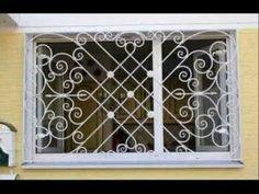 TOP 100 HERMOSOS DISEÑOS DE REJAS FORJADAS PARA VENTANAS - YouTube Grill Gate Design, Window Grill Design Modern, Iron Window Grill, Welding Design, Iron Windows, Iron Balcony, Metal Fab, Iron Work, Cool House Designs