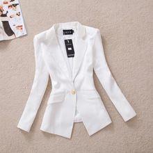 Outono coreano magro fivela de ouro fato de outono casaco OL terno feminino outerwear feminino blazer ocasional WT4067(China (Mainland))