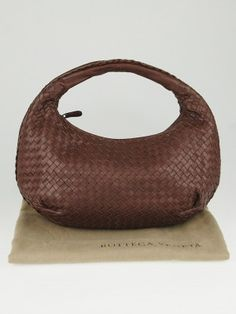 5c6fdff6a2 Bottega Veneta Truffle Intrecciato Woven Nappa Leather Medium Belly Veneta  Hobo Bag