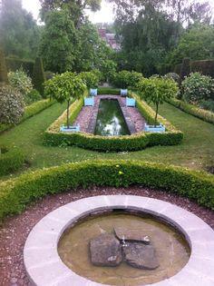 Taken at Kathryn Swift's wonderful garden at Morville Hall British Garden, Snowdonia, Styles, Stepping Stones, Pond, Garden Ideas, Home And Garden, England, Architecture