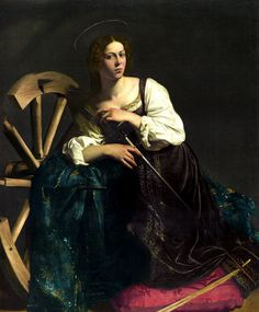 Michelangelo Caravaggio - Saint Catherine of Alexandria, 1598 at Museo Thyssen-Bornemisza Madrid Spain
