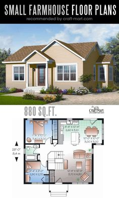 Designing and building a farmhouse can be a lot of fun! Look at the best small farmhouse plans that can fit almost any tight budget. Learn how you can design the best modern farmhouse and decorate it as a pro! Small Farmhouse Plans, Small House Plans, Farmhouse Design, Cottage Farmhouse, Farmhouse Architecture, Tiny House Trailer, Sims House, Cabin Plans, Modern House Design