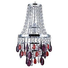 TESCO MARIE THERESE 5 LIGHT CHANDELIER GLASS DROPLETS & ACRYLIC ...