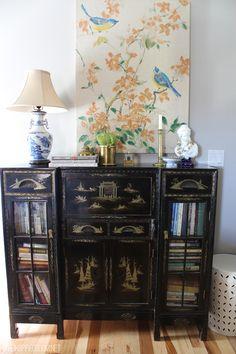 Antique cabinet bedroom display