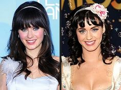 Star Look a likes    Zooey Deschanel - Katy Perry