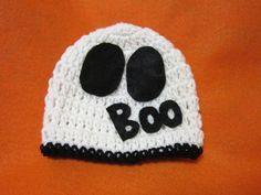 Check out this item in my Etsy shop https://www.etsy.com/listing/242505537/halloween-ghost-baby-cap-white-beanie