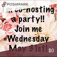 I'm co-hosting my 1st party! Join me Wednesday, May 31st at noon MST for my first Posh party!! Theme Best in Shoes!! 👠👠👠 Tag me below if you'd like me to check out your closet for a host pick!! Shoes