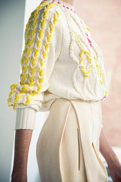 DELPOZO Spring / Summer 2014; weaving i cords through cables inspiration