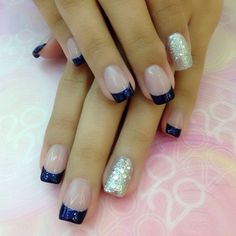 Endless Madhouse!: Amazing Nails with Blue Tips!