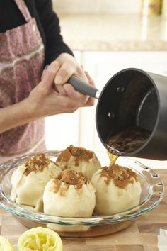 Apple Dumplings with Cinnamon Caramel Sauce Recipe - Above & BeyondAbove & Beyond | Above & Beyond, the blog from Bed Bath & Beyond, features cooking, recipes, food, entertaining, gift ideas, home decor, organizing advice, and more ideas and inspiration!