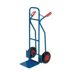 Carrello portacasse con ruote pneumatiche RelX - blu - 117x49x51 cm - 180 kg - HT2502