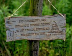 Wooden Second Amendment Sign