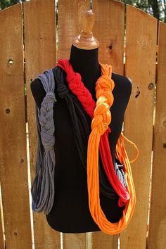 Braided Tshirt Scarf by SwallowStudio on Etsy, $23.00