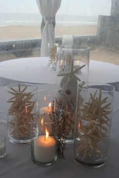 Coral Beach Wedding Centerpieces | Starfish Centerpiece Coral Sea Urchin Sandbridge Virginia Beach Isha ...