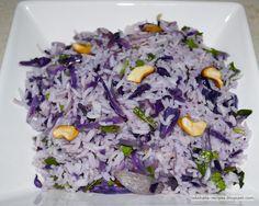 Purple Rice salad or sushi rolls
