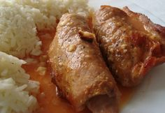Mantovai hústekercs Mariann konyhájából Hungarian Recipes, Hungarian Food, Meat Recipes, Sausage, Pork, Rolls, Food And Drink, Paleo, Beef