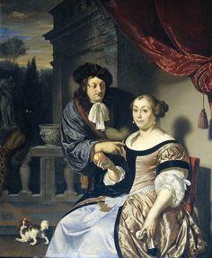 Frans van Mieris - Een heer en een dame
