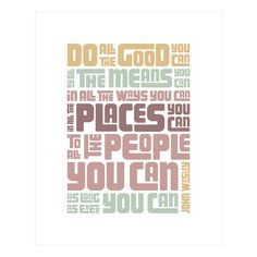 Do Good Print, Pastels made by Logophilia .