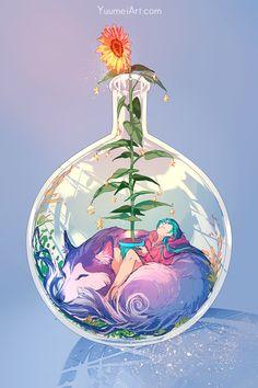 Arte Do Kawaii, Kawaii Art, Art And Illustration, Pretty Art, Cute Art, Yuumei Art, Aesthetic Art, Cute Drawings, Art Sketches