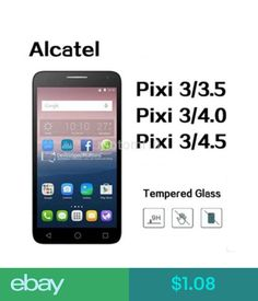 Alcatel cell phones mobile phones communication ebay mobile and screen protectors high quality screen protector film tempered glass for alcatel pixi3 us ebay fandeluxe Images