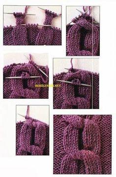 Tutorial for Crochet, Knitting, Crafts. Knitting Stiches, Cable Knitting, Knitting Yarn, Free Knitting, Crochet Stitches, Yarn Projects, Knitting Projects, Crochet Projects, Knitting Patterns