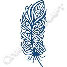 Tattered Lace Decorative Feather Die