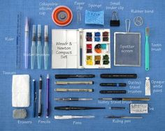 Everyday Artist: Compact Carrier for Travel Art Supplies #artpainting