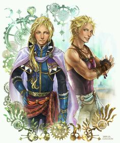 Here's to a couple of confused adults! Edgar and Sabin. Final Fantasy 6