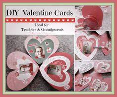 DIY Valentine Cards Kids Crafts, Valentine's Day Cards for Teachers #Valentinesday #kidscrafts #valentinesdaycrafts