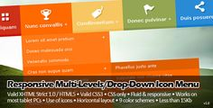 CSS - Responsive Multi-Levels/Drop-Down Icon Menu - 15 Stupefying Responsive Navigation Menu You Should Have