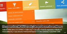CSS - Responsive Multi-Levels/Drop-Down Icon Menu - 15 Stupefying Responsive Navigation Menu You Should Have