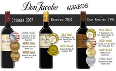 DON JACOBO CRIANZA, RESERVA AND GRAN RESERVA, NEW MEDALS 2012
