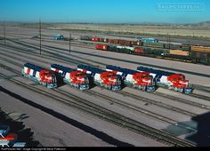 RailPictures.Net Photo: ATSF 5704 Atchison, Topeka & Santa Fe (ATSF) EMD SD45-2 at Barstow, California by Steve Patterson